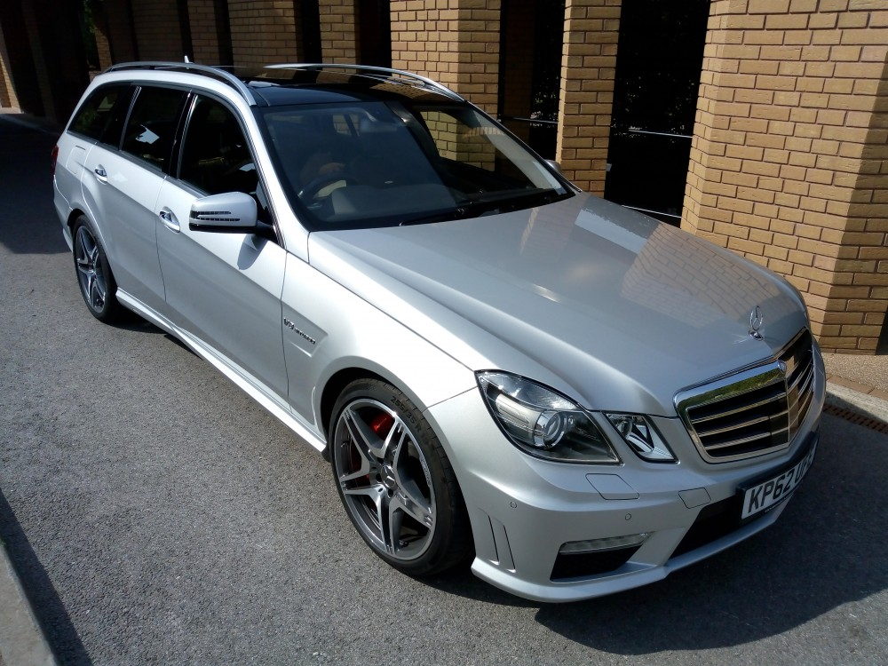 Image of our Mercedes Silver funeral vehicle at Bramcote Crematorium.